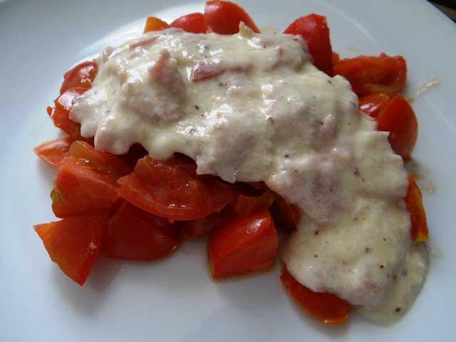 Rezeptbild Helle Käse Soße mit Schinken