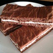 Rezept für Lower Carb Kakao Schnitte mit Quarkcreme