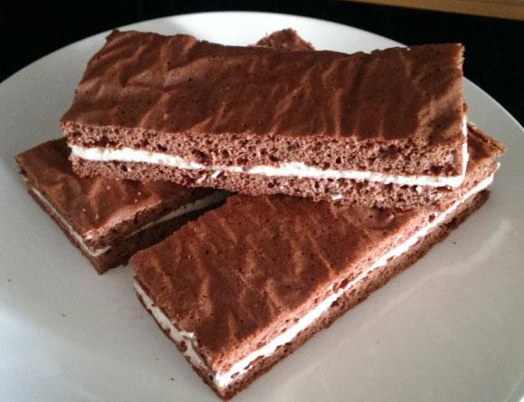 Zubereitung Lower Carb Kakao Schnitte mit Quarkcreme