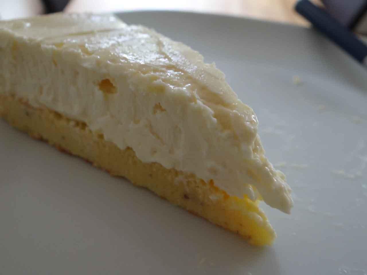 Zubereitung Lower Carb Cheese Cream Kuchen
