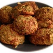 Rezept für Protein Bällchen mit Brokkoli und Käse
