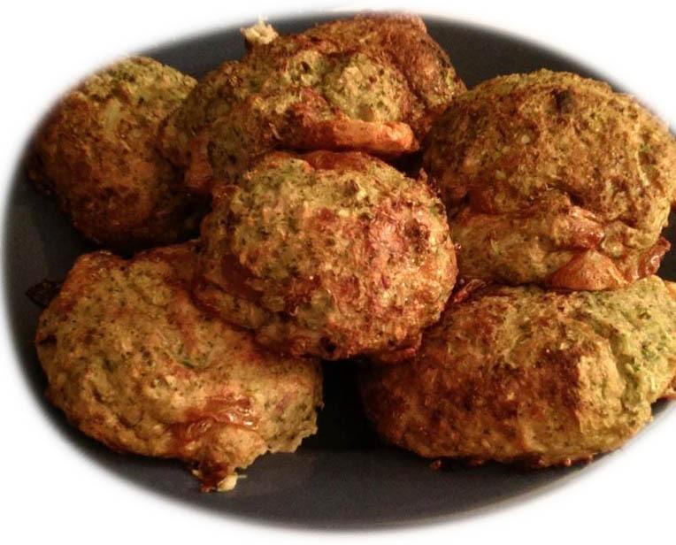 Rezeptbild Protein Bällchen mit Brokkoli und Käse