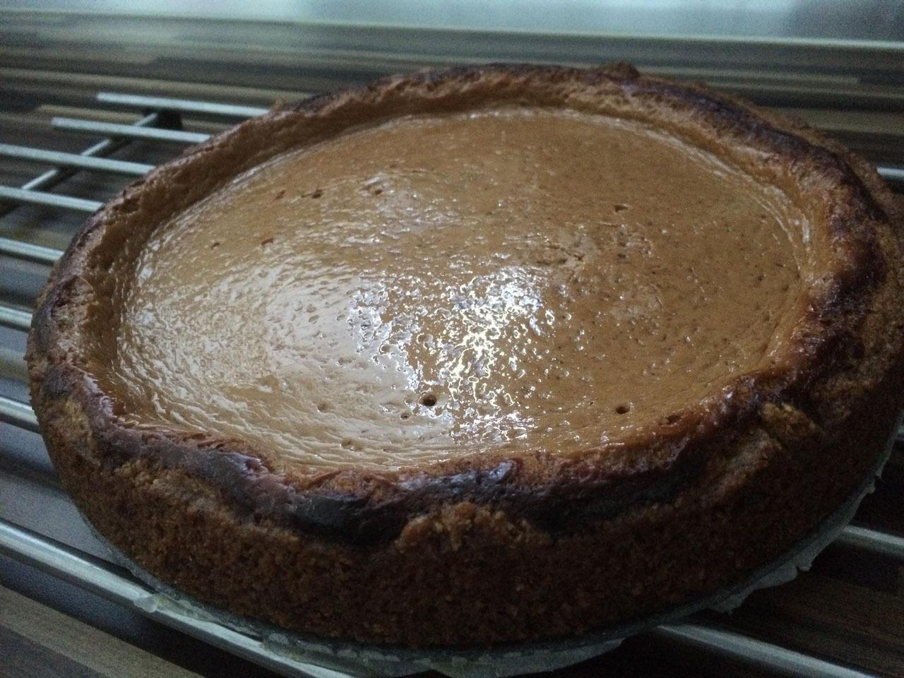 Quarkcreme Kuchen mit Kakaonote zubereiten