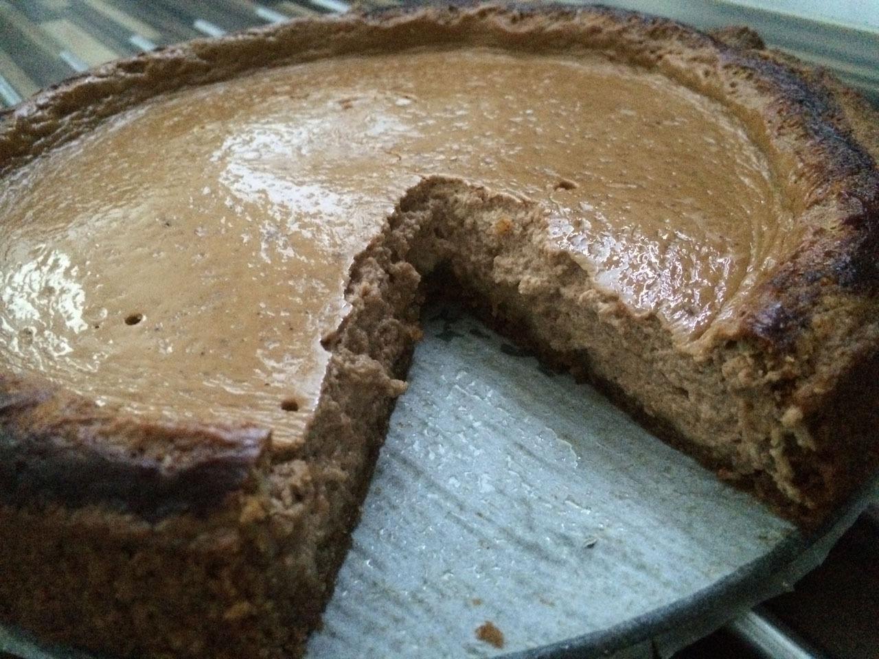 Quarkcreme Kuchen mit Kakaonote