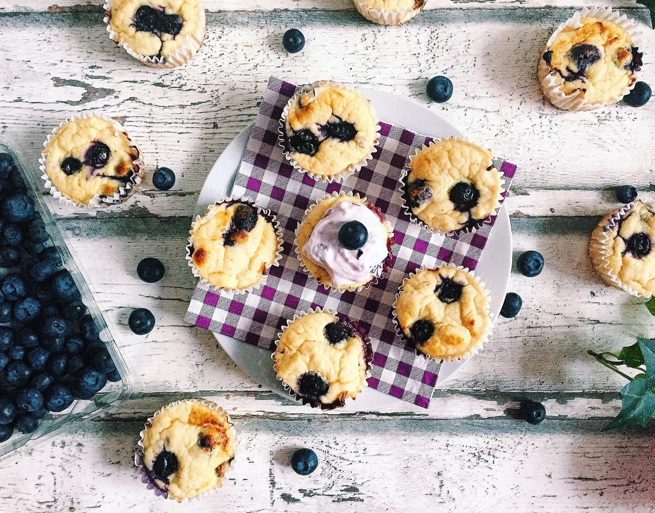 Rezeptbild Heidelbeer Protein Muffins