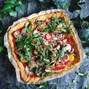 Rezept für Pizzaboden mit Blumenkohl