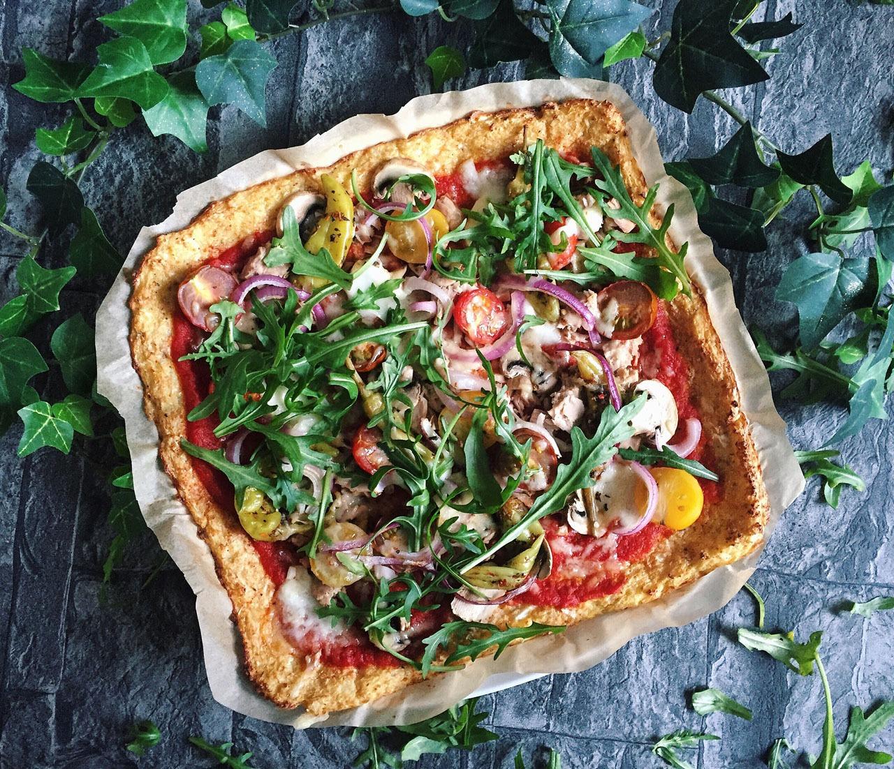 Rezeptbild Pizzaboden mit Blumenkohl