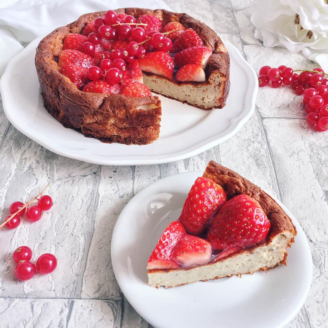 Erdbeer Kokos Torte zubereiten