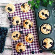 Rezept für Heidelbeer Protein Muffins