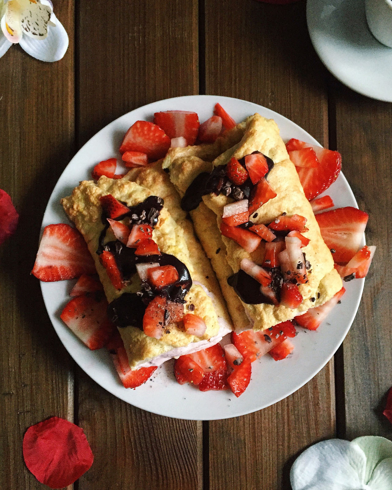 Rezeptbild Biskuitrolle mit Erdbeer-Quark-Füllung