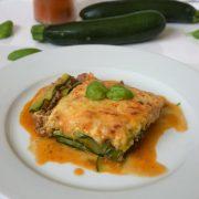 Rezept für Zucchinie Lasagne mit Bechamelsoße