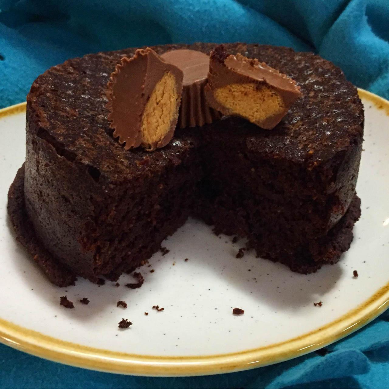 Rezeptbild Double Chocolate Peanutbutter Kuchen