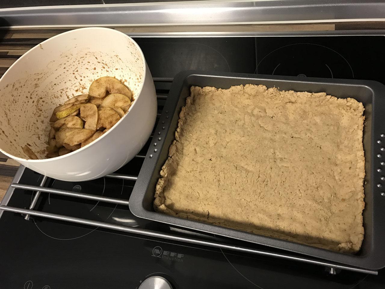 Zubereitung Birnen Tarte ohne Zucker